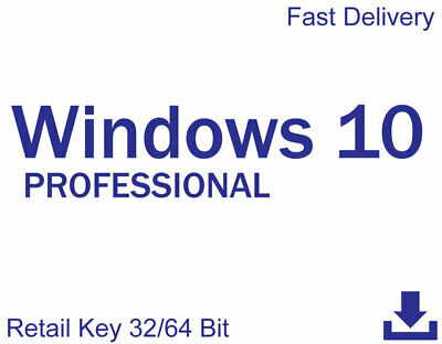 Windows 10 Professional (32/64 Bit) - Retail License Key | Instant Delivery