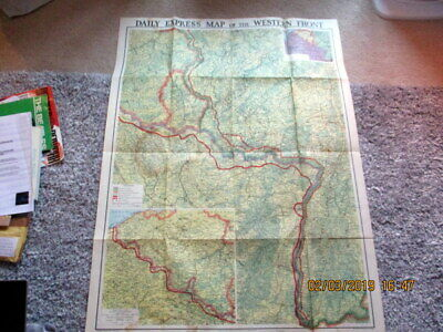 A Daily Express World War 2 Map Of The Wester Front