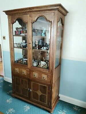 Cabinet Wall Unit in Fruitwood with stone inlay, manufactured by Bakers