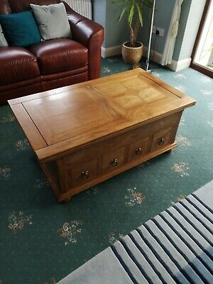Fruitwood Coffee Table with stone inlay, Made by Baker Furniture