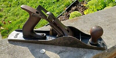 Antique Stanley Bailey No.5 Bench Plane Vintage Woodworking Tool