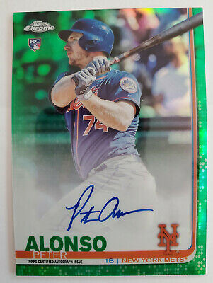 2019 Topps Chrome PETE ALONSO GREEN REFRACTOR AUTOGRAPH /99 RC Rookie Peter