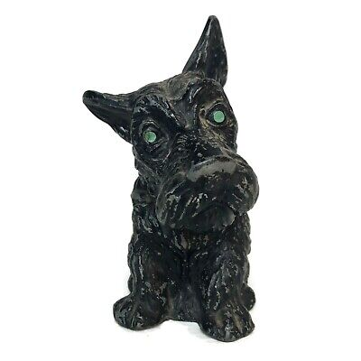 Antique Cast Iron Heavy Scottie Dog Scottish Terrier Scotty Piggy Bank Vintage