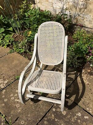 Antique Rare Victorian child's Rocking chair with cane seat and Back