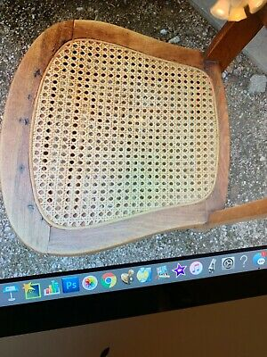 5 antique wicker bottom chairs
