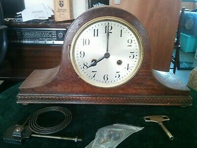 "Vintage 20/30""s Art Deco Mantle Clock for restoration, DRGM movement, GERMANY"