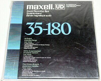 """Nos New Sealed Maxell Ud 35-180 3600' Blank 10.5"""" Metal Reel To Reel Tape"""