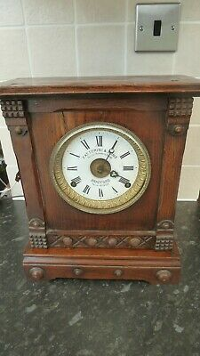 Vintage Fattorini & Sons of Bradford Wooden Bracket Clock with Alarm