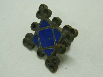 Vintage Brass Ring With Lapis Lazuli Stone more then 50 Years Old #BE1198