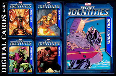 Topps Marvel Collect Card Trader Secret Identities Wave 3 [Set 5 Cards] Digital