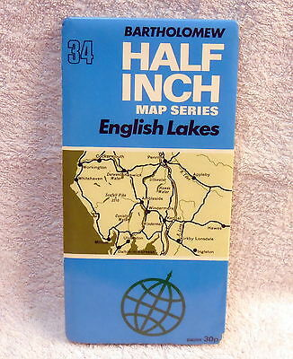 English Lakes 34 Bartholomew Map -  Lake District