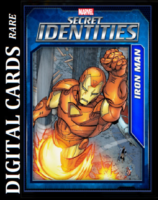 Topps Marvel Collect Card Trader Secret Identities Wave 3 Iron Man [Digital]