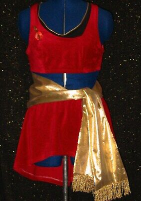 CUSTOM-MADE Red Five Star TREK Uniform COSTUME Dress Womans Any Size