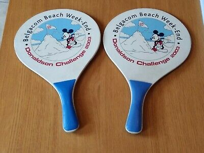 "2 RAQUETTES DE PLAGE ""MICKEY"" - ""Belgacom Beach Week-end 2003"""