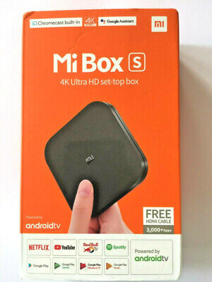 Mi Box S Android TV with Google Assistant Remote Streaming Media Player - NEW