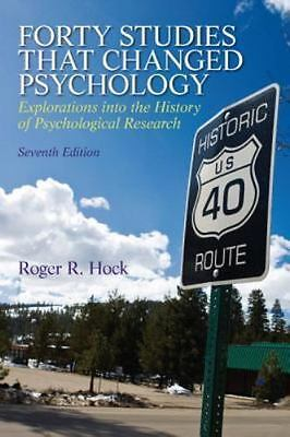 Forty Studies That Changed Psychology by Roger R. Hock (2012, Paperback,...