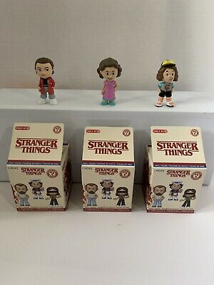 Stranger Things Mystery Minis Target Exclusive Lot Of 3, Dustin, Eleven, Nancy