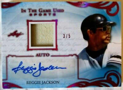 '19 ITG Used REGGIE JACKSON AUTOGRAPH & PATCH SSP 3/5 NY Yankees Cali/LA Angels