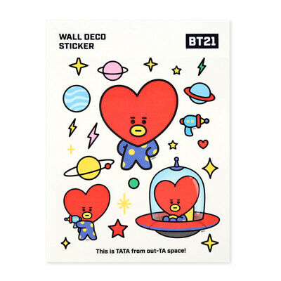 31cm Kpop BTS BT21 TATA COOKY CHIMMY KOYA MANG RJ Stickers Cartoon Phone Sticker
