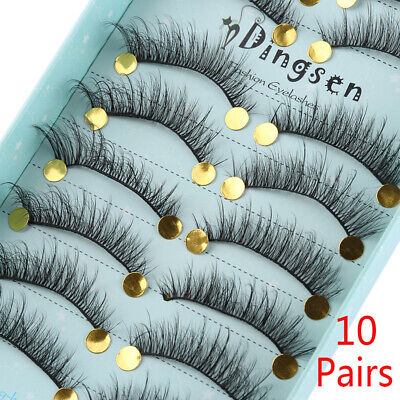 Cruelty-free Extension Tools False Eyelashes 3D Faux Soft Mink Hair Fluffy