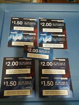 Lot of 9 Camel Coupons save up to $15 exp. sep and oct 2019