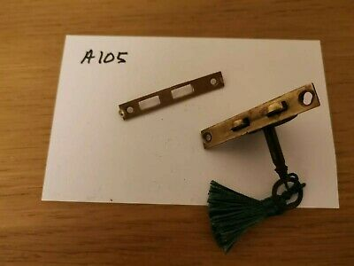 Lock and keep with key for antique/vintage writing slope. Brass.