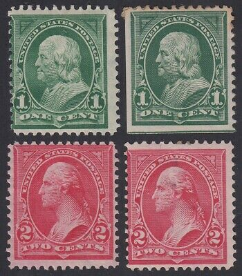TDStamps: US Stamps Scott#279 279B (4) Mint H OG
