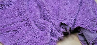 CURLY Teddy Faux Fur Fabric Material - LILAC