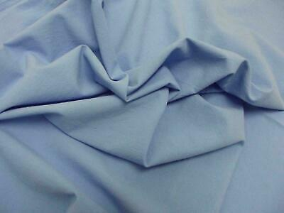 Quality Plain 60 SQ Pure Cotton Fabric Material - BLUE