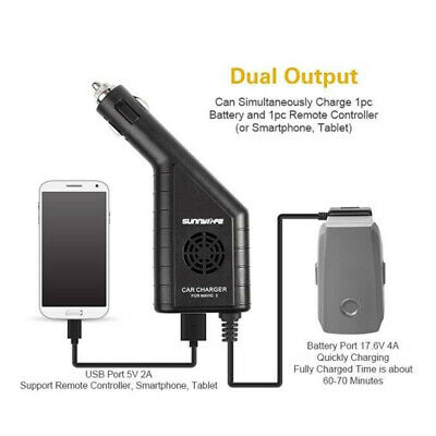Accessory Car Charger 2in1 Battery For DJI MAVIC 2 Pro/zoom Portable New