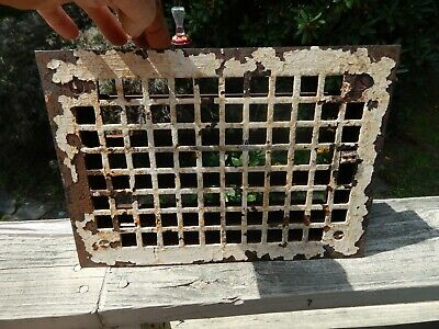 Antique Cast Iron Floor Grate, Register, Heat Vent With Working Damper