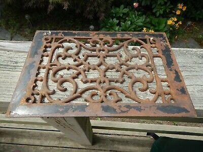 Antique Ornate Cast Iron Floor Grate ~ GRATE ONLY