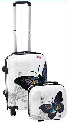 Butterfly 2-piece Hardside Carry-on Spinner Luggage Set World Traveler NEW