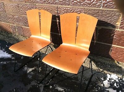 28 Vtg Falcon Co Charlotte Collection MidCentury Bent Plywood Chairs Very Good