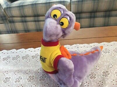 Vintage Disneyland Walt Disney World Figment Stuffed Plush With Velcro Shirt