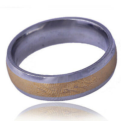 Dragon Patterned mens Stone Band Ring stainless steel Yellow Gold Filled Size 11