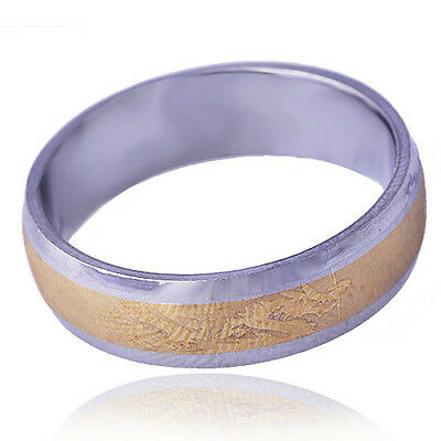 Dragon Patterned mens Stone Band Ring stainless steel Yellow Gold Filled Size 9