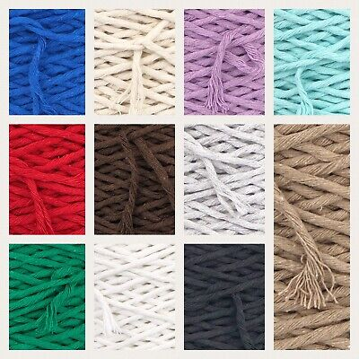 5mm SingleTwisted Pipping Cotton Cord  String Rope Craft Sewing Macrame DIY