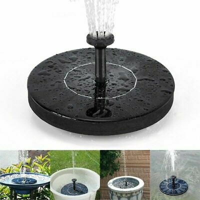 Solar Panel Power Fountain Submersible Water Pump Aquarium Garden Pool Pond CA