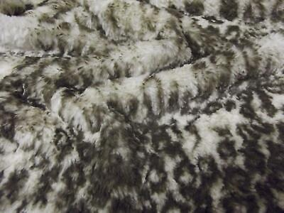 Super Luxury Faux Fur Fabric Material - MICRO OCELOT