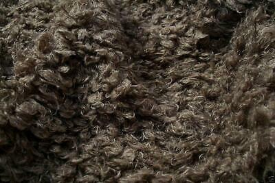 Super Luxury Faux Fur Fabric Material - CURLY TAUPE