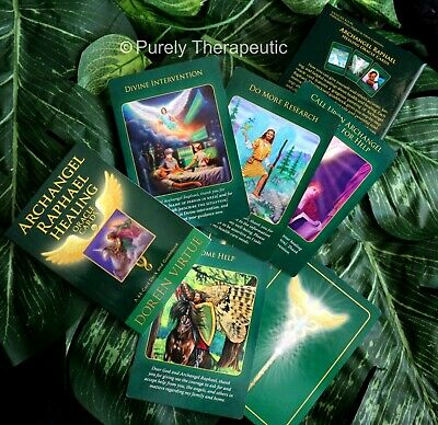 ARCHANGEL RAPHAEL HEALING ORACLE CARDS DOREEN VIRTUE With Guidebook Boxed Sealed