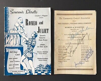 1968 THE FRANCO Zeffirelli Romeo & Juliet Program - $10 00