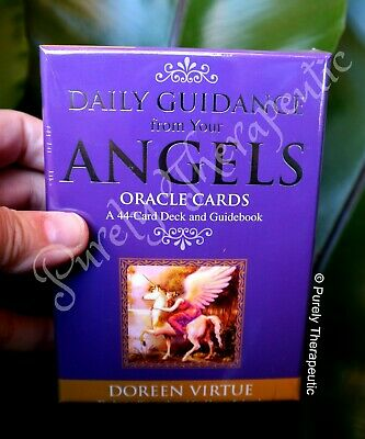 DAILY GUIDANCE FROM YOUR ANGELS ORACLE CARDS DOREEN VIRTUE With Guidebook Boxed