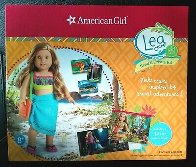 NIB ~ American Girl Explore w/ Lea Clark ~ Book Read & Create Kit Sarong Sandals