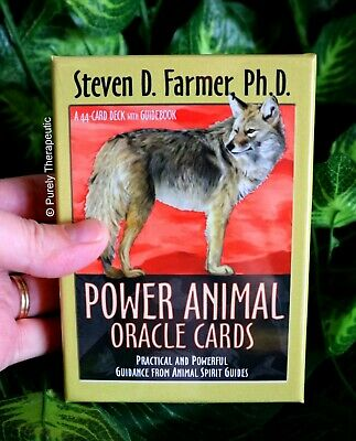 POWER ANIMAL ORACLE CARDS STEVEN D. FARMER With Guidebook Boxed Sealed Tarot