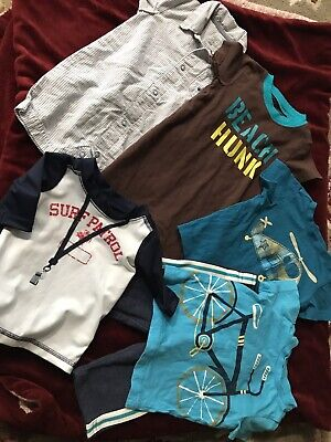 Carter's Jumping Beans Infant Boys 6 Months Mixed Lot EUC Rompers Shirts