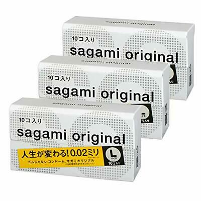 Sagami Original 002 L size condom 10 pieces Ultra Thin 0.02mm Non Latex... Japan