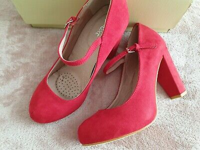 Gorgeous Next red vintage retro mary jane heels size 37/ 6