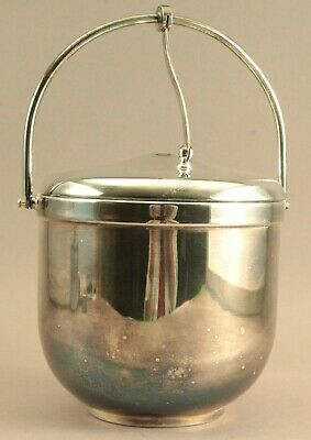 Gadroon Mount Thermos Lining 1.75 Pint Silver Ice Bucket